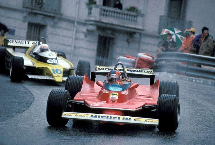 Gilles Villeneuve & Rene Arnoux Monaco 1980