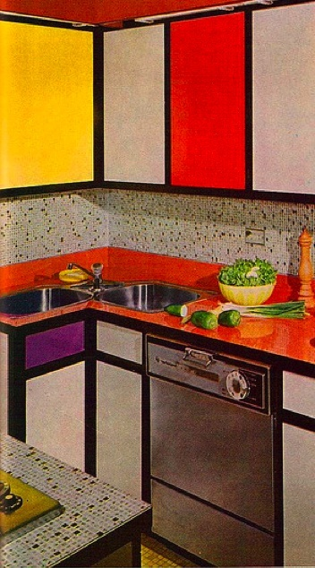 1970s interior design kitchen