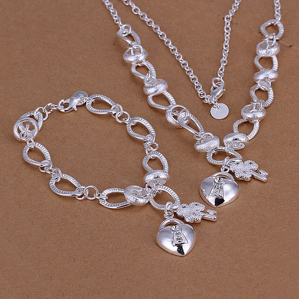 >> Click to Buy << 2015new 925 sterling silver stone heart key charms pendant necklace bracelet  for men's  fine fashion jewerly trendy promotion #Affiliate