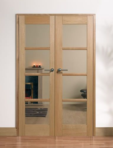 Internal Double Oak Doors Room Divider