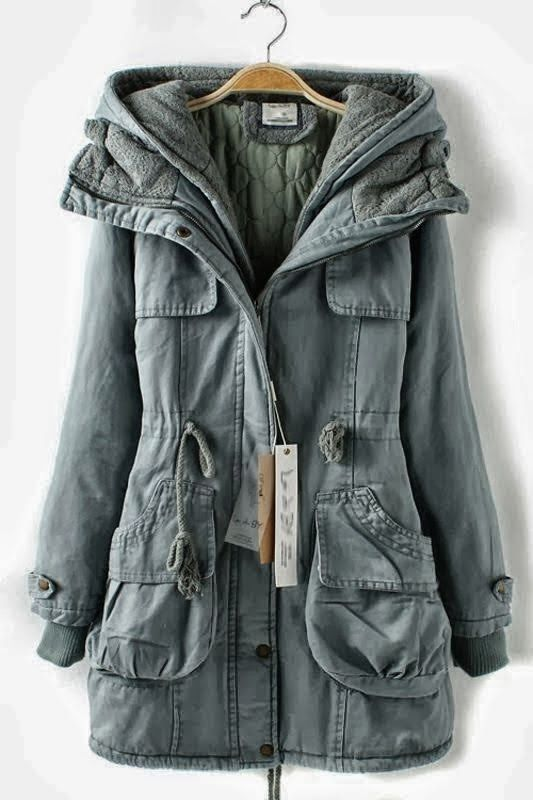 Soft hooded double deck overcoat
