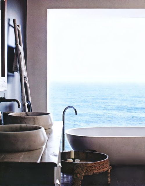 Bathroom with the ocean view