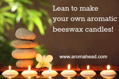 How To Make Natural Beeswax Candles with Essential Oils: http://www.aromahead.com/blog/2015/06/22/make-natural-beeswax-candles-essential-oils/