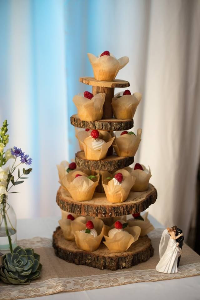 Wooden cake tier