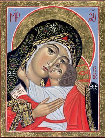 Madre di Dio della Bucovina (2008) per mano di Cristina Capella . www.mirabileydio.it