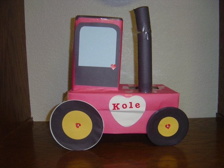 Tractor Valentine Cards : Tractor valentine box bing images