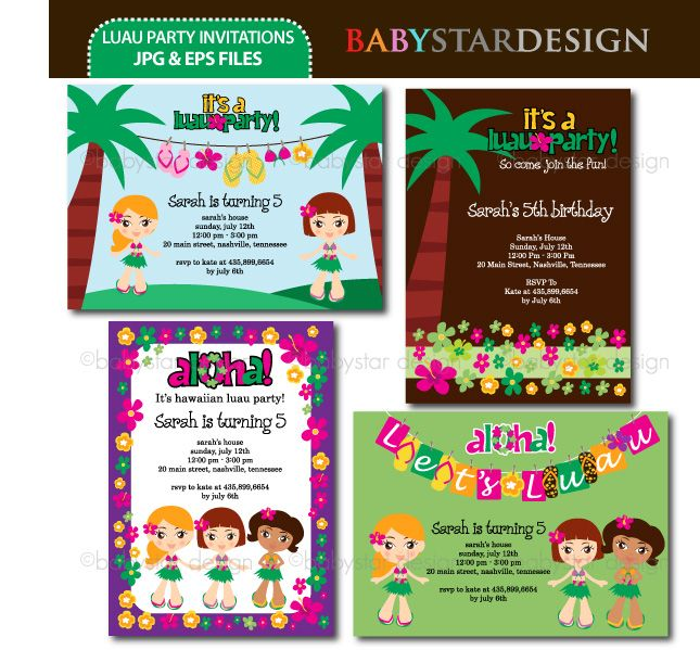 20 best luau party ideas clipart and backgrounds images for Luau invitations templates free