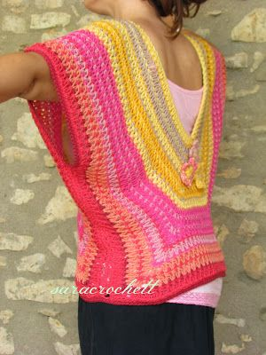 This granny inspired crochet tunic photo will have to be inspiration. Couldn't find a post about it on the site.