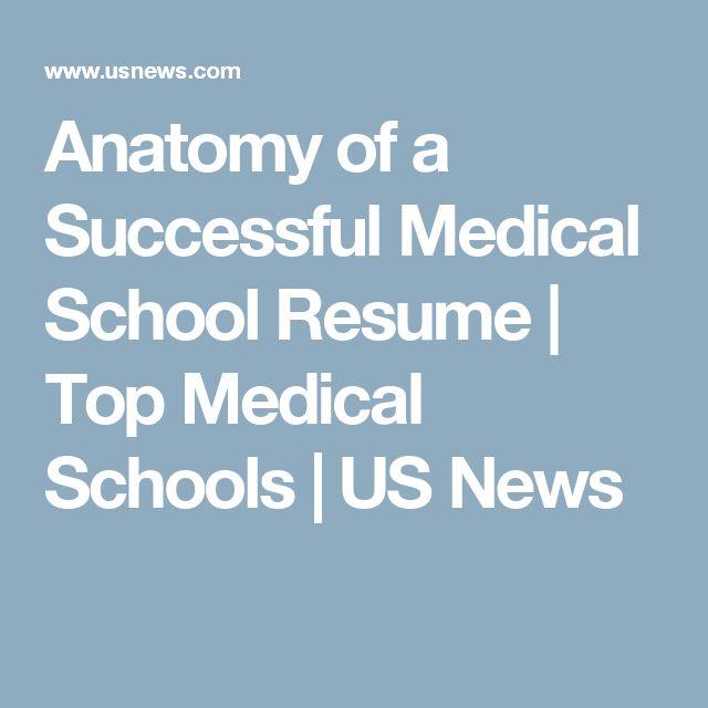 Anatomy of a Successful Medical School Resume | Top Medical Schools | US News