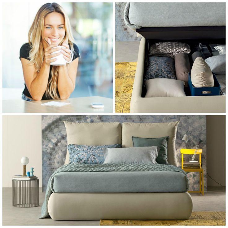 """""""Tanto spazio in più per organizzare il mio spazio e godermi la mia casa grazie al mio nuovo letto con contenitore Plus! Love it!"""""""