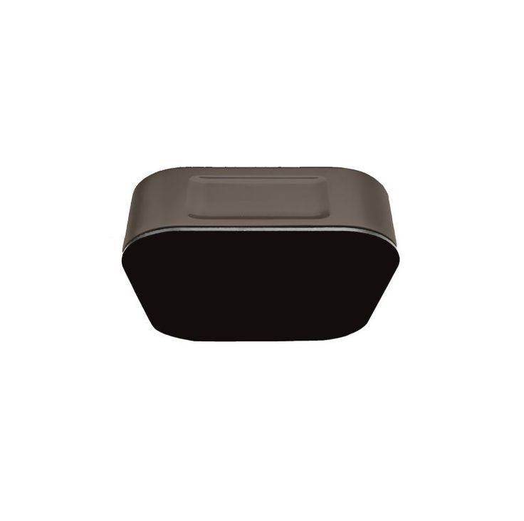 Mr Steam 104104 AromaSteam Glass Steam Head Black / Oil Rubbed Bronze Steam Shower Accessories Steam Heads