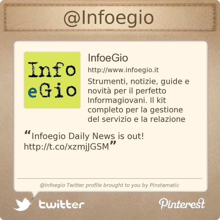 @Infoegio's Twitter profile courtesy of Pinstamatic (http://pinstamatic.com)