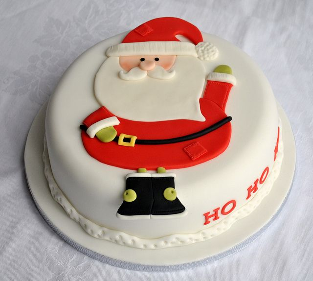 Father Christmas Cake by thecustomcakeshop, via Flickr