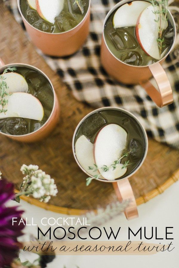 Twist On The Moscow Mule: Apples Cider, Seasons Twists, Fall Moscow ...