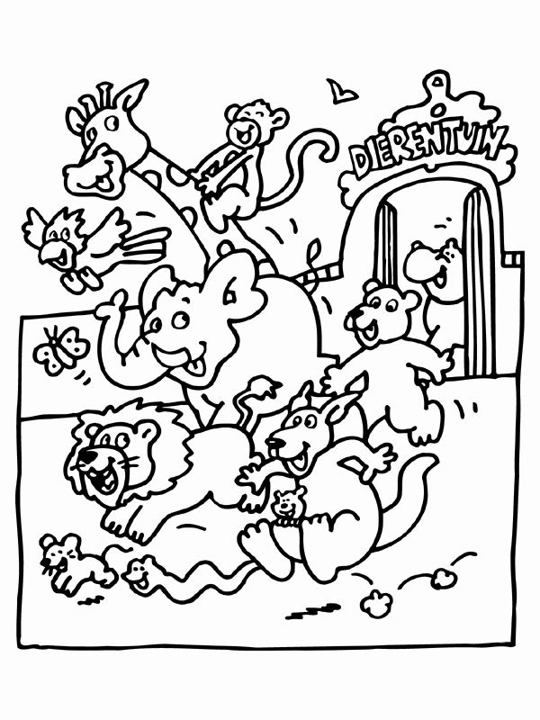 Animal Coloring Book For Kids Fresh Free Printable Zoo Coloring Pages For Kids Zoo Animal Coloring Pages Zoo Coloring Pages Animal Coloring Books