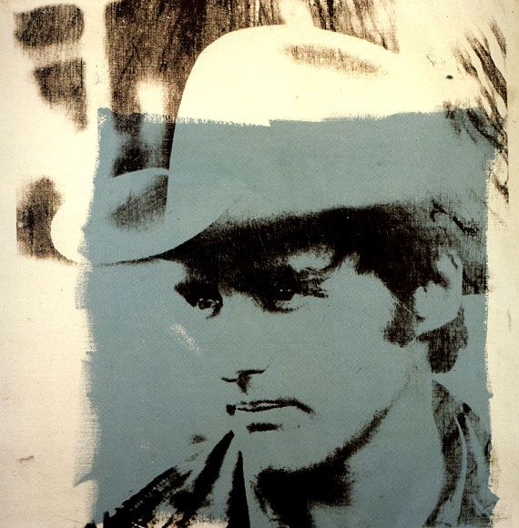 Dennis Hopper by Andy Warhol / 1970  Dennis Hopper is an American actor, writer, director, photographer & art collector.