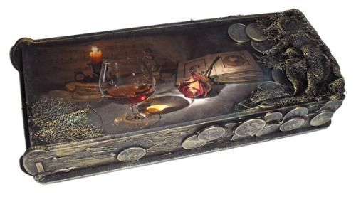 Купюрница с монетками http://dcpg.ru/mclasses/1291/ Click on photo to see more! Нажмите на фото чтобы увидеть больше! decoupage art craft handmade home decor DIY do it yourself tutorial Materials: acrylic paint varnish print etc.