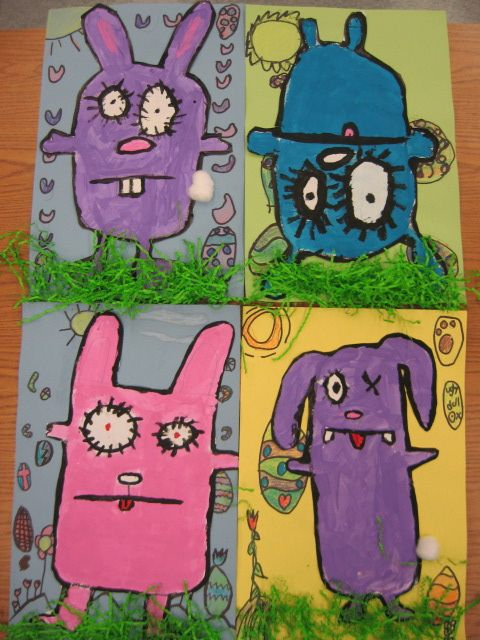 Fun for the little ones. Ugly Doll drawings.