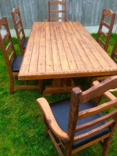 Details about teak garden furniture Rectangle Folding Teak Table 120cm With  Folding Armchairs