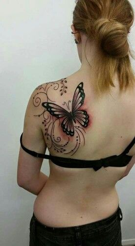 dragon fly or hummingbird in place of the butterfly... but this is what I am looking for!