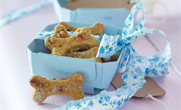 Místo sladkého tučného cukroví napéct psovi před Vánocemi jeho vlastní a hlavně zdravé sušenky,
