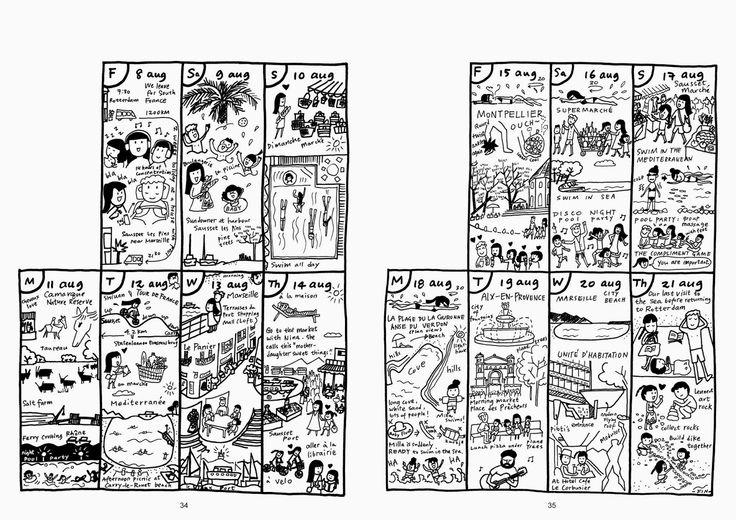 Shiuan-Wen Chu's Graphic Novels: Chu Cat Chronicle, number 5, pg 34-35