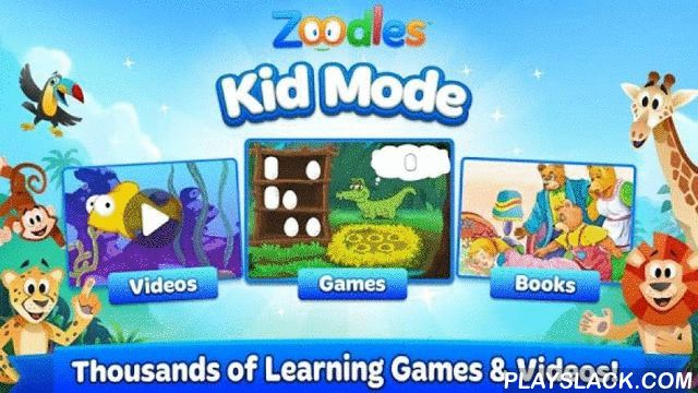 Kid Mode: Free Learning Games  Android App - playslack.com ,  **What's New**- Zoodles Kid Mode has been redesigned from the ground up!- New look and feel, now with fun animals!- Minor Bug fixesZoodles® Kid Mode® features the best educational apps, games, books, and videos for your kids, all for FREE! Kid Mode is an award-winning education app that's designed by parents to help kids learn and play in a safe digital environment. Over 11 Million kids are learning and playing with Kid Mode…