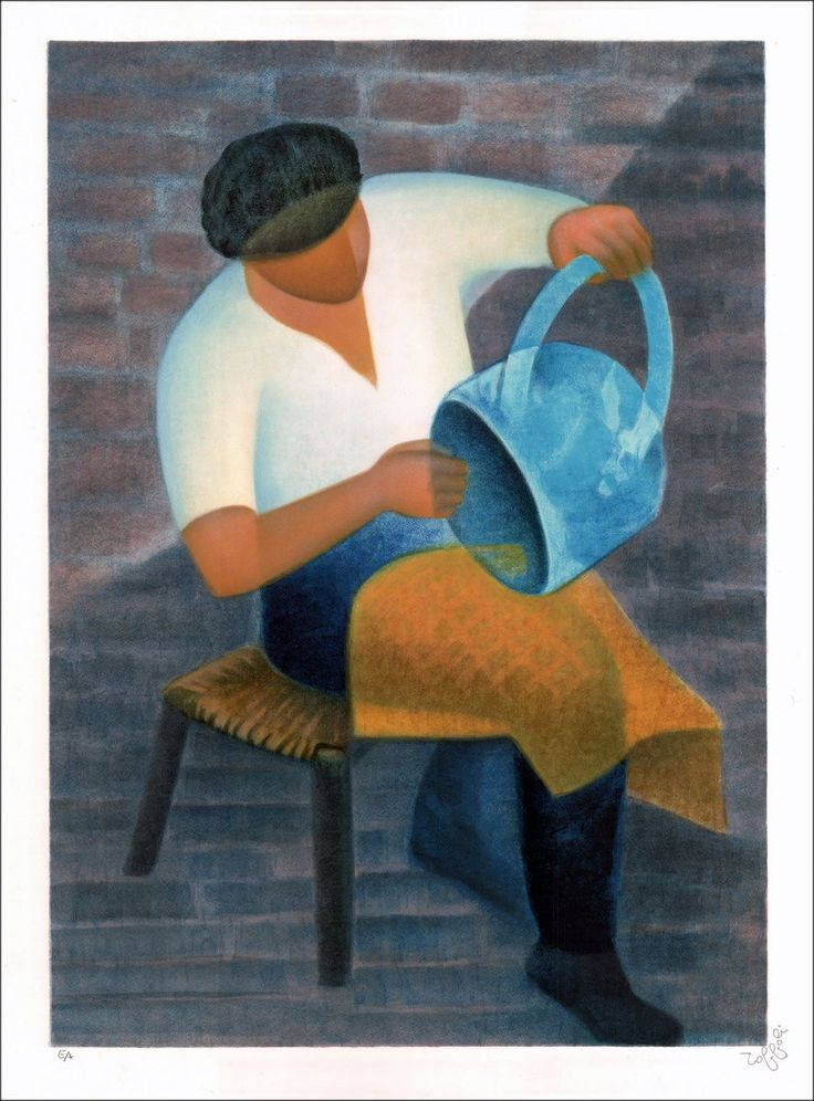 Louis TOFFOLI : L'artisan - Lithographie Originale - 299 : Galerie 125
