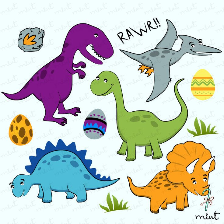 Dinosaur digital clip art set clipart for scrapbooking for Pin the tail on the dinosaur template