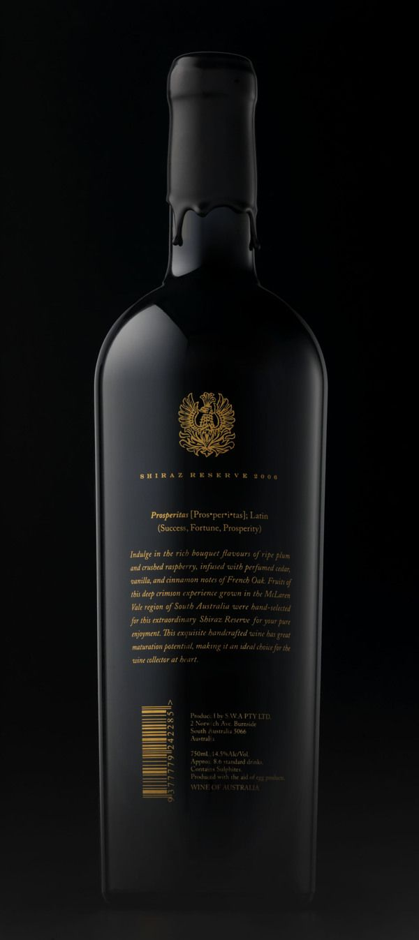 Prosperitas Wine (Branding and Label Design) by Gjoko Muratovski, via Behance #vinosmaximum