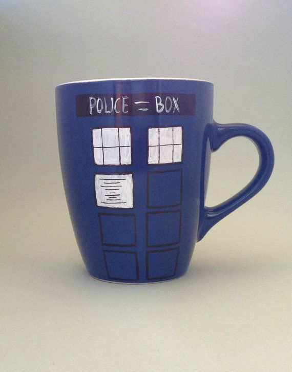 The TARDIS / You'll dream about that box... / Doctor Who coffee or tea mug / Christmas gift for the Whovian