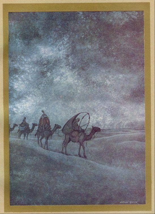 Anton Pieck (1895 - 1987) - 1001 Nacht, Karavaan