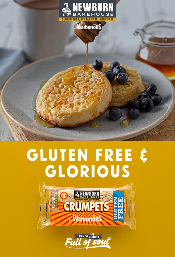 Soft, fluffy and with plenty of holes for soaking up butter and honey, our gluten free crumpets are perfect toasted for a tasty treat!