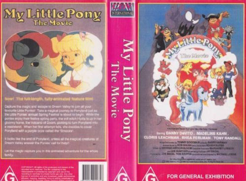 My Little Pony The Movie VHS (Australia)