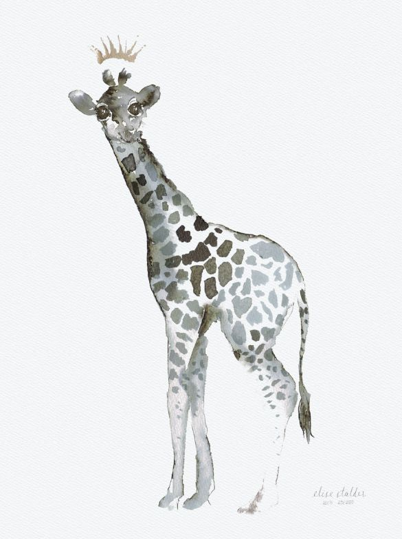 Giraffe – Limited edition, signed and numbered art print by Elise Stalder.