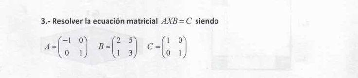 Ejercicio 3A Julio 2015-2016. Matemática, pau de Canarias, matemática 2, matrices y determinantes