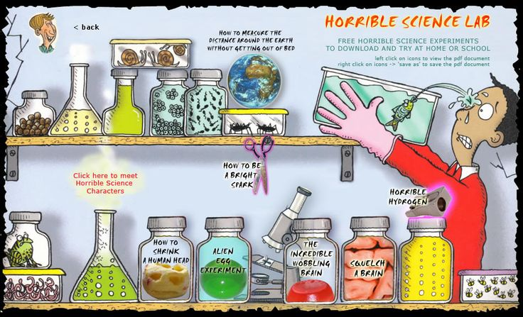 Horrible Science Labfeatures a collection of pdf's for cool science experiments from Nick Arnold, the author of the Horrible Science Series.  #elemchat #spedchat #scichat #scienceexperiments  via @sharnon007  Some pretty neat experiments here.