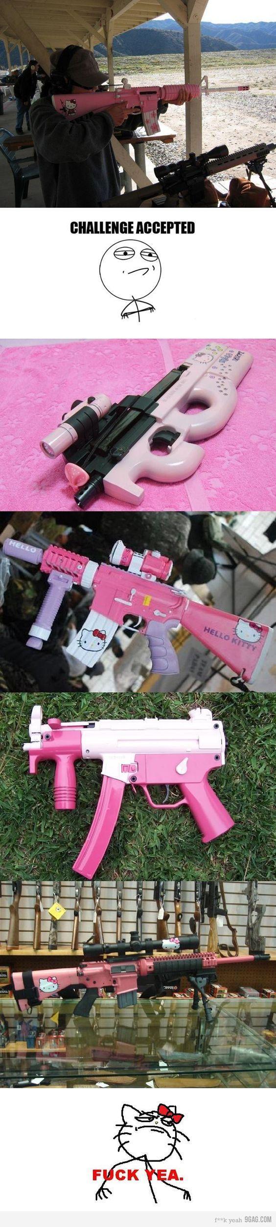 Hello Kitty gun haha