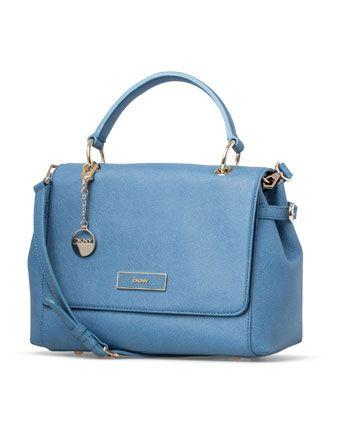 DKNY - Saffiano Leather Shoulder Bag in Blue - Myer - 349.00