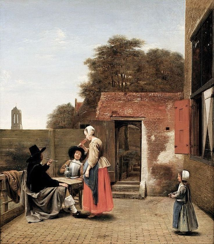 "71 mentions J'aime, 1 commentaires - Troy Hodgson (@darcstudio_troy) sur Instagram : ""Pieter De Hooch - a Dutch courtyard. 1658-1660. Rich Images of simple domestic life. #painting #art…"""