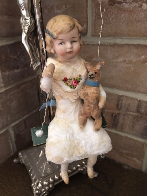 Wattefigur mit Porzellankopf,JDL,Shabby, Ostern, handmade | eBay