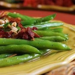 Just don't take your eyes off those almonds! They burn SO easily.   -Sauteed Green Beans   Allrecipes.com