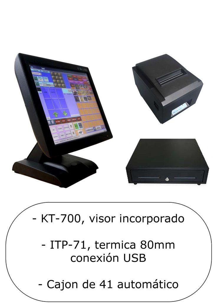 TPV Pack KT-700 LED 2 GB, impresora ITP-71 y cajón de 41 x 41  Por sólo 639,00 € IVA incluido envío gratis https://cajaregistradoraytpv.com/home/286-tpv-pack-kt-700-led-2-gb-impresora-itp-71-y-cajon-de-41-x-41.html