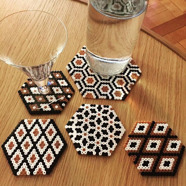 Coasters hama beads by madame_andine