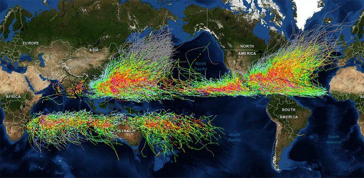 NOAA Historical Hurricane Tracks