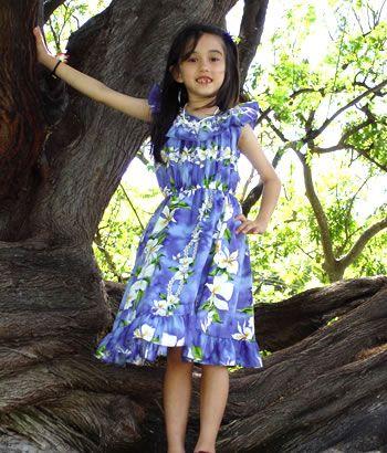 ceeea4054c42f Let's Hula! orchid girl ruffle hawaiian dress | Hawaiian Outfits We Love  for Kids | Dresses, Summer dresses, Girls dresses