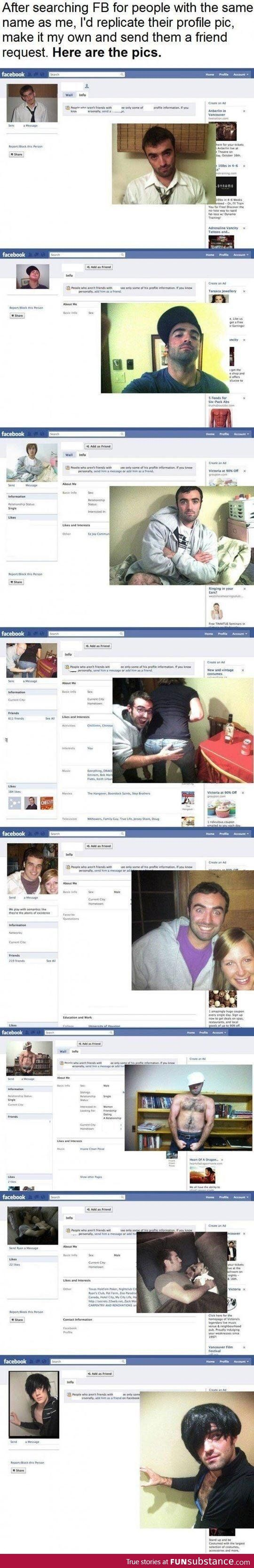 Facebook Prank, completely cracked me up...even thinking about doing it...hehe