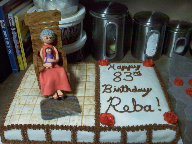 Grandma In Rocking Chair cake  Rachele Richardsons