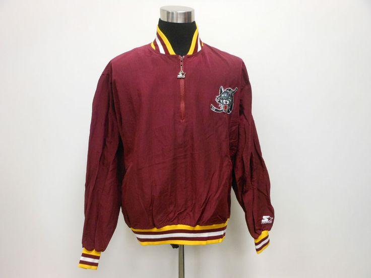 Vtg 90s Starter Chicago Wolves Quarter Zip Light Pullover Jacket XL Extra Large #Starter #ChicagoBlackhawks #tcpkickz