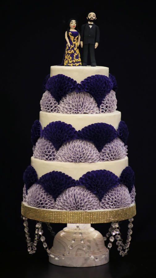 Wedding cake #PurpleCake #WeddingBells #Proposals  by CakedIndia - http://cakesdecor.com/cakes/276060-wedding-cake-purplecake-weddingbells-proposals